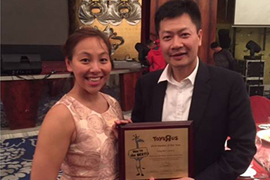"KingBee won the 2014 ""Toys ""R"" Us Vendor of the Year"" Award"